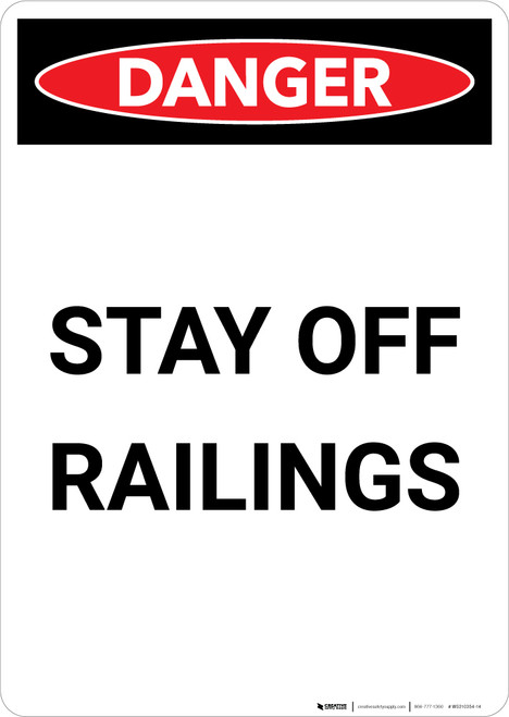 Stay Off Racking - Portrait Wall Sign