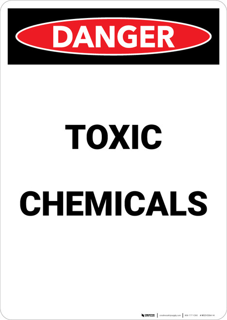 Toxic Chemicals - Portrait Wall Sign