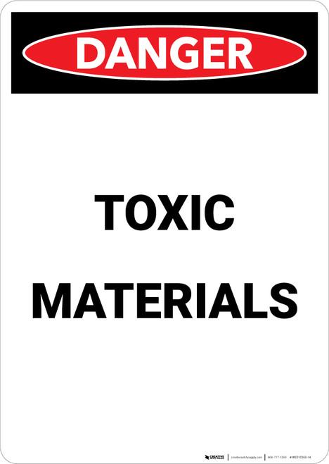 Toxic Materials - Portrait Wall Sign
