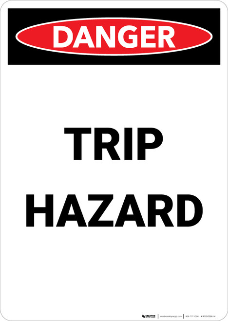 Trip Hazard - Portrait Wall Sign