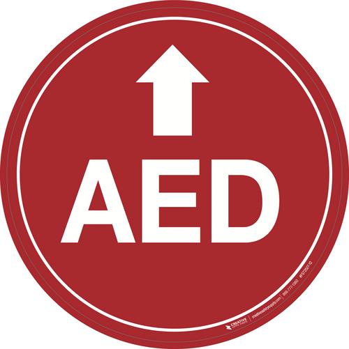 AED (Arrow Up) - Floor Signs