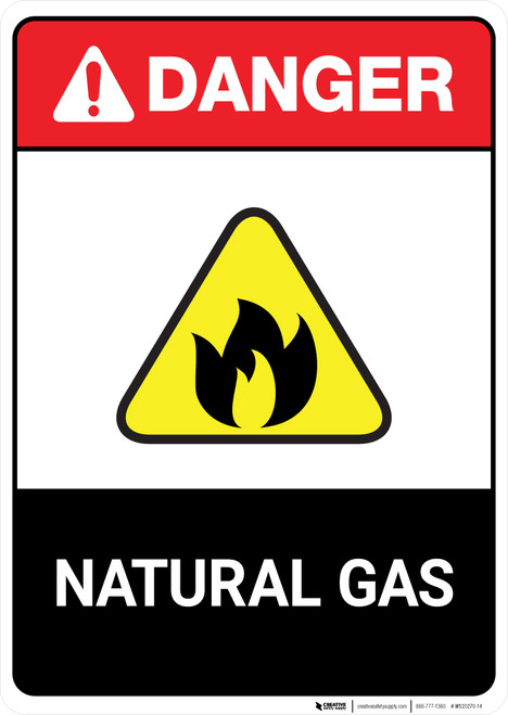 Natural Gas ANSI - Portrait Wall Sign