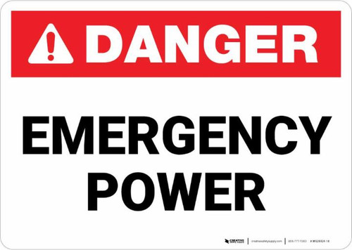 Danger: Emergency Power Landscape ANSI