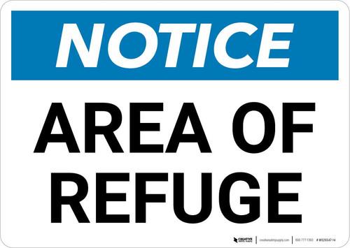 Notice: Area of Refuge Landscape