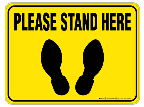 Please Stand Here - Floor Sign