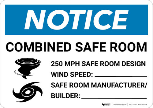 Notice: Hurricane/Tornado Safe Room Landscape