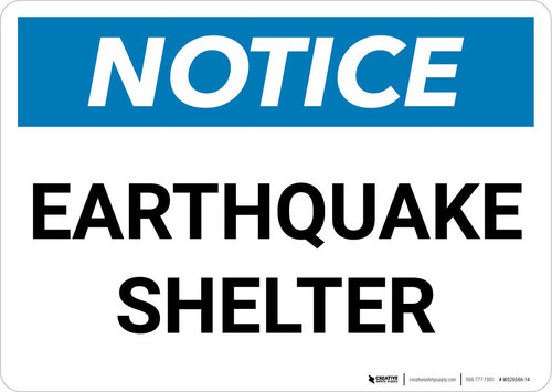 Notice: Earthquake Shelter Landscape