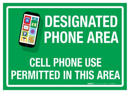 Designated Phone Area, Floor Sign