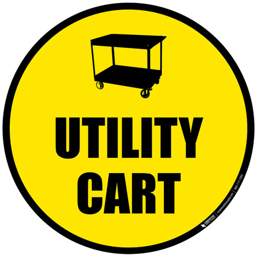 Utility Cart - Floor Sign
