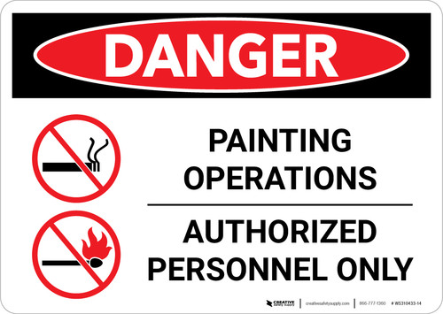 Danger: Painting Operations - Authorized Personnel Only Landscape