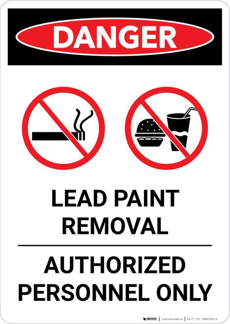 Danger: Lead Paint Removal - Authorized Personnel Only Portrait