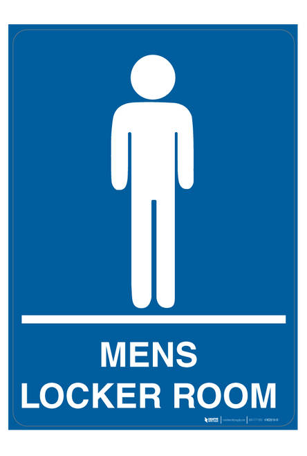 Mens Locker Room - Wall Sign