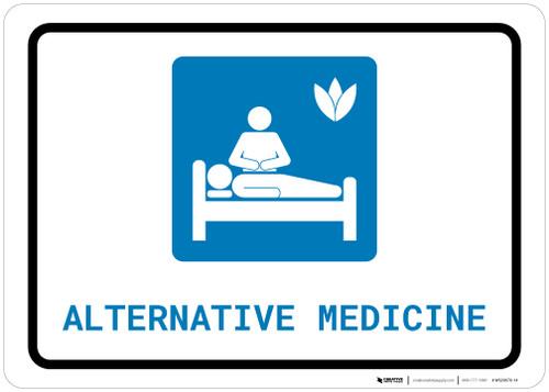 Alternative Medicine with Icon Landscape - Wall Sign