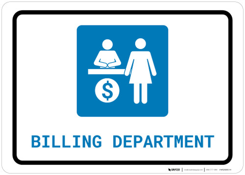 Billing Department with Icon Landscape - Wall Sign