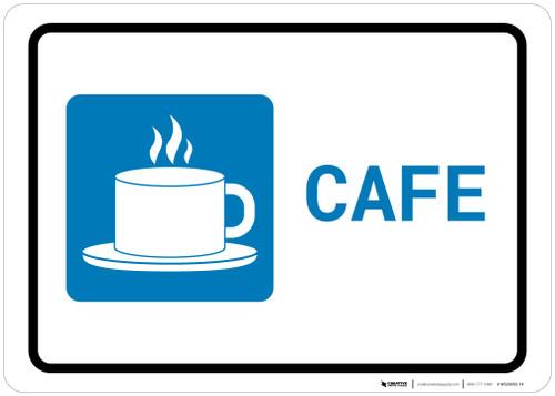 Cafe with Icon Landscape - Wall Sign