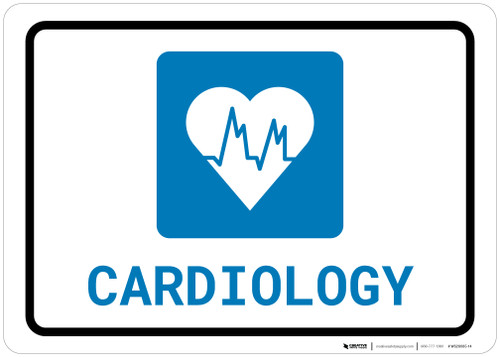 Cardiology with Icon Landscape - Wall Sign