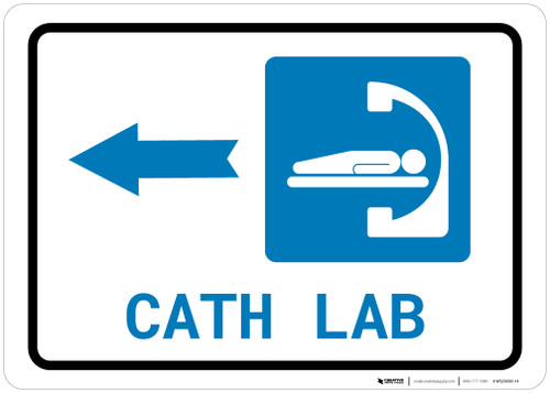 Cath Lab Left Arrow with Icon Landscape - Wall Sign