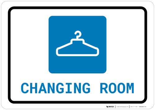 Changing Room with Icon Landscape - Wall Sign