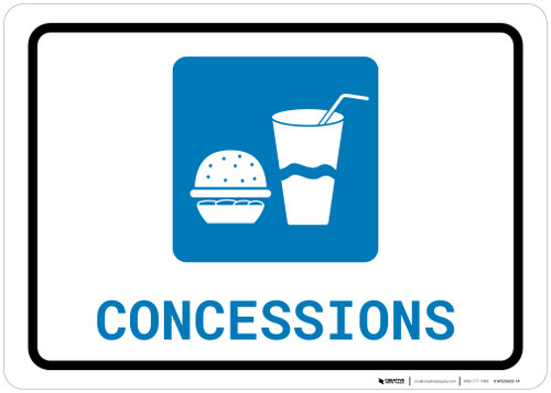 Concessions with Icon Landscape - Wall Sign