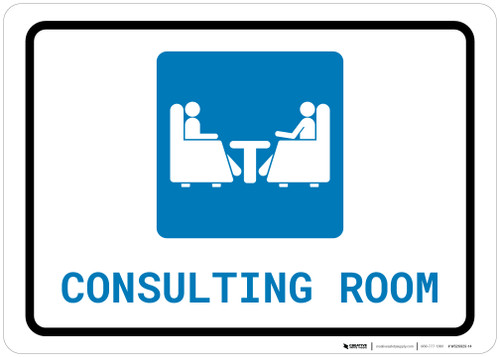 Consulting Room with Icon Landscape - Wall Sign