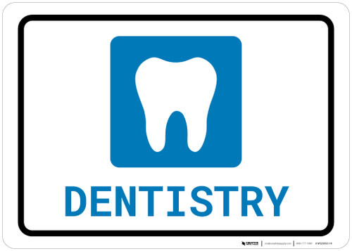 Dentistry with Icon Landscape - Wall Sign