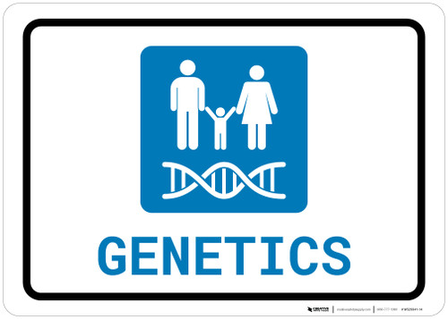 Genetics with Icon Landscape - Wall Sign