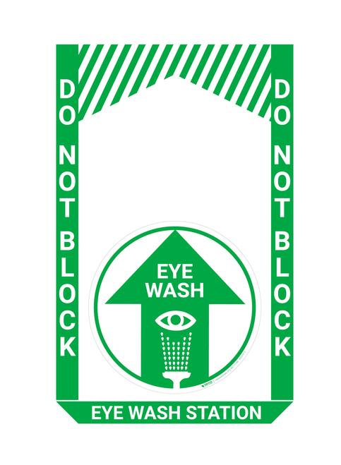 Eye Wash Station - Pre Made Floor Sign Bundle