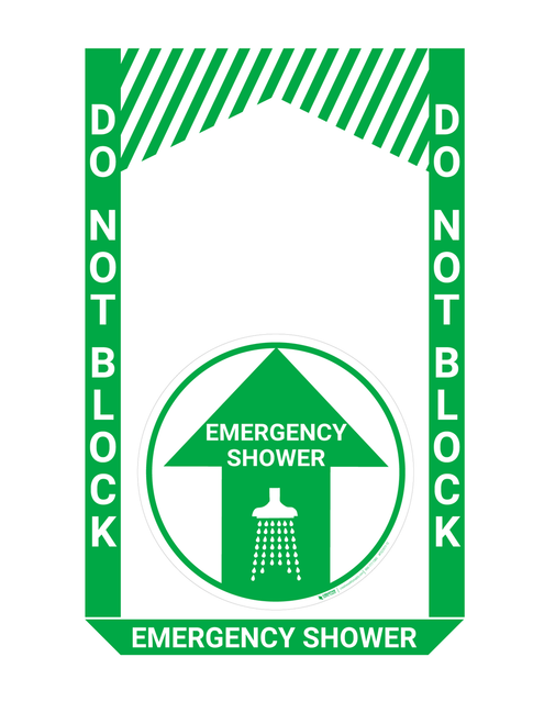 Emergency Shower - Pre Made Floor Sign Bundle