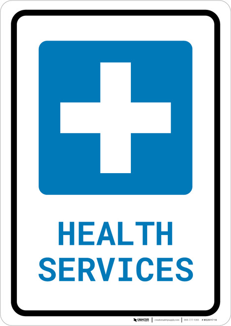 Health Services with Icon Portrait - Wall Sign