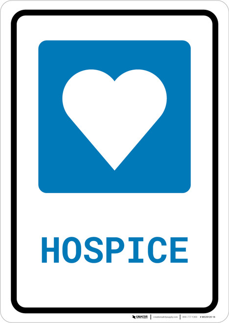 Hospice with Icon Portrait - Wall Sign