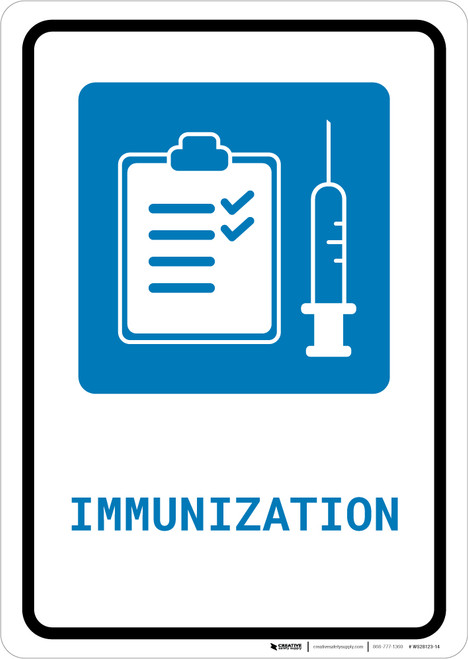 Immunization with Icon Portrait - Wall Sign