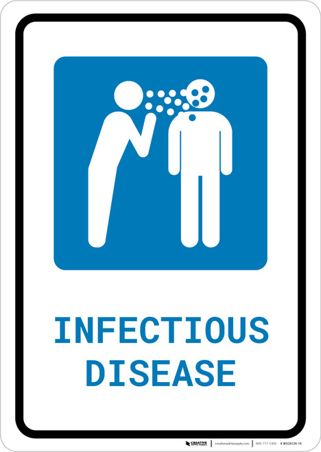 Infectious Disease with Icon Portrait - Wall Sign