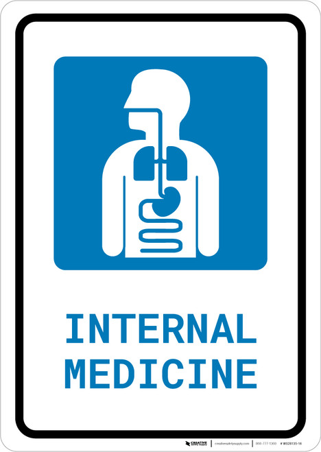 Internal Medicine with Icon Portrait - Wall Sign