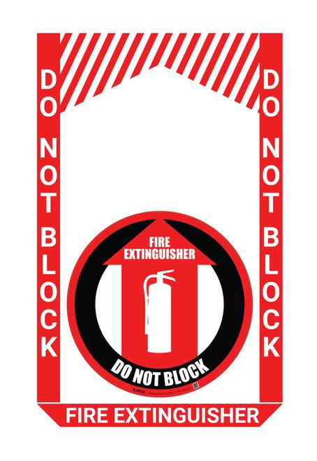 Fire Extinguisher - Pre Made Floor Sign Bundle