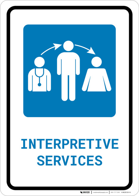 Interpretive Services with Icon Portrait - Wall Sign