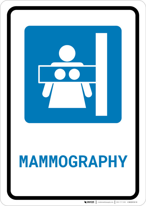 Mammography with Icon Portrait - Wall Sign
