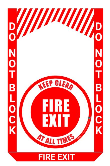 Fire Exit - Pre Made Floor Sign Bundle