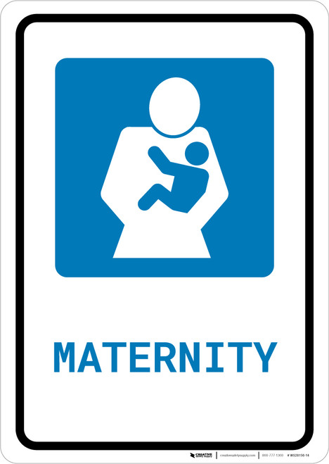 Maternity with Icon Portrait - Wall Sign