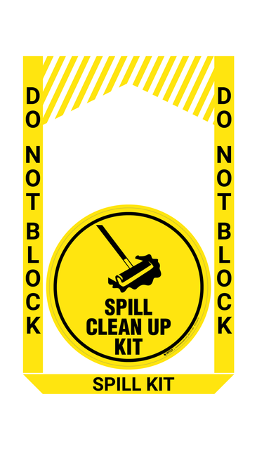 Spill Clean Up Kit - Pre Made Floor Sign Bundle