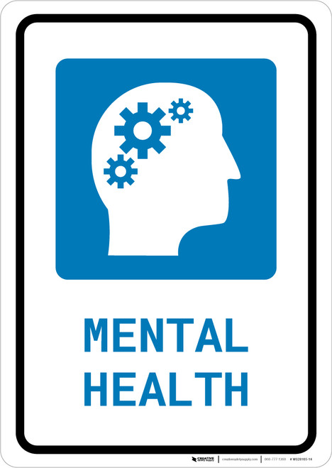 Mental Health with Icon Portrait - Wall Sign