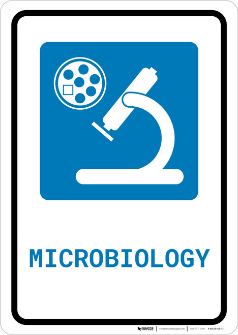 Microbiology with Icon Portrait - Wall Sign