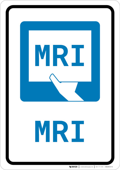 MRI with Icon Portrait - Wall Sign