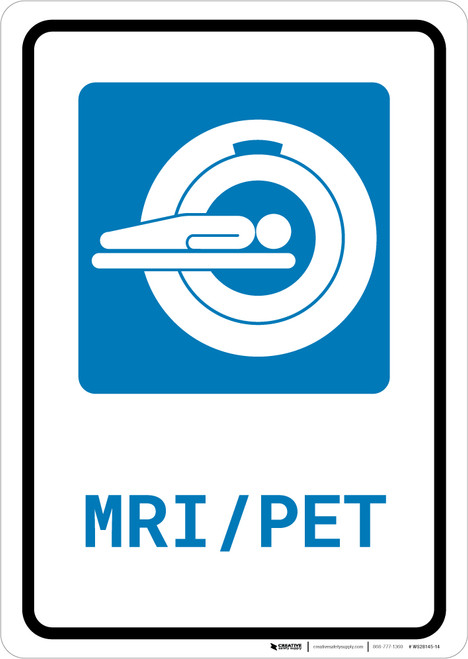 MRI/PET Scan with Icon Portrait - Wall Sign