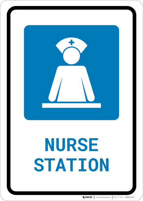 Nurse Station with Icon Portrait - Wall Sign