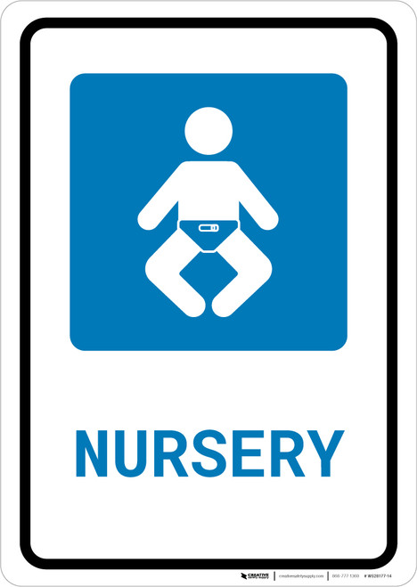 Nursery with Icon Portrait - Wall Sign