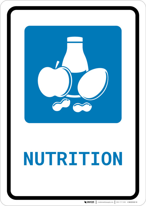 Nutrition with Icon Portrait - Wall Sign
