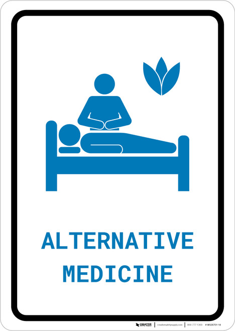 Alternative Medicine with Icon Portrait v2 - Wall Sign