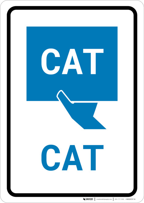 CAT with Icon Portrait v2 - Wall Sign