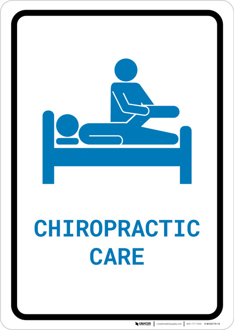 Chiropractic Care with Icon Portrait v2 - Wall Sign