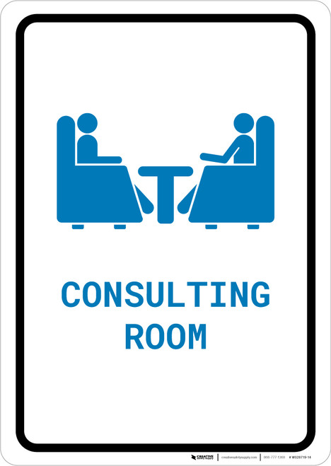 Consulting Room with Icon Portrait v2 - Wall Sign